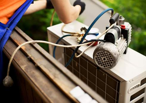 Repair of air conditioning & heat pump systems Var